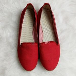 Andy Red Round Toe Espadrille Flat sz 40